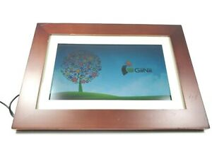"GiiNii 10.1"" Digital Photo Picture Frame Walnut Border USB SD MMC MS Pro GH-A13P"