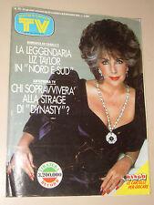 TV SORRISI CANZONI=1986/48=LIZ TAYLOR=SPANDAU BALLET=DYNASTY=VALTER CASAROLI=