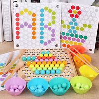 Montessori Früherziehung Hölzerne Stäbchen Spielzeug Puzzle Ausbildung Geschenk