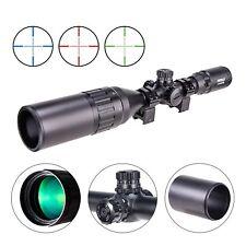 3-9X50 Rifle Scope AO Red Green Blue Illuminated Mil Dot with Sunshade Tube