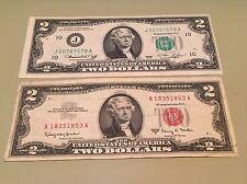 1976 $2.00 Bicentennial Bill CU Kansas City & 1953 / 1963 $2.00 Red Seal