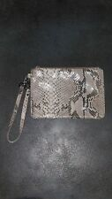 Cole Haan Snakeskin Leather Handbag Wrist Purse