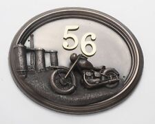 Moto-bronce con placa de identificación/Número De Casa