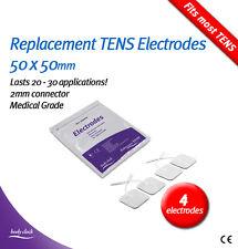 4 almohadillas Electrodos de Auto-adhesivas Para Tens & Ems – Original Bodyclock 50x50mm