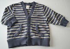 Baby Boy GYMBOREE 12 18m Blue Cream Stripe Button Down Cardigan Top Yacht Team