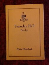 Towneley Hall Burnley Vintage Guidebook