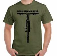 Cycling T-Shirt Lifer Behind Bars Mens Funny Cyclist Road Bike Road MTB BMX