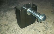 "2 x 4 Steel AR500 A36 target gong hanger mount WIDE mount. 1/2"" carriage bolt"
