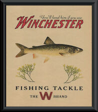 Winchester Lake Trout Fishing Tackle Ad Reprint On 90 Year Old Paper *P094