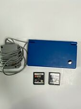 Nintendo DS w/ Charger - Blue - Tested Works 2 Games Stylus is Loose, no SD Card
