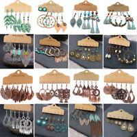 Boho Gypsy Earrings Tribal Ethnic Festival Tassel Turquoise Ear Drop Dangle Gift