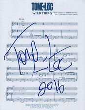 Tone Loc Rapper REAL hand SIGNED Wild Thing novelty sheet music Autographed COA