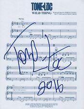 Tone Loc Rapero Real Firmada a Mano Wild Thing Novedad Partitura Firmado Coa