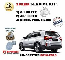 FOR KIA SORENTO 2.2 DT CRDI 2010-2015 SERVICE KIT OIL AIR FUEL 3 X FILTER SET