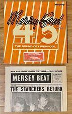 MERSEY BEAT 62-64 LIVERPOOL UK 1ST PRESS NEWSPAPER INNERS VINYL 1974 MOD BLUES