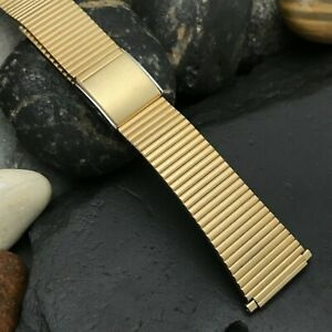 Speidel Gold-Tone nos LED LCD 1970s Vintage Watch Band 18mm 19mm 20mm 22mm