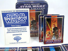Star wars ltd edition of 1,100 dark empire metal collector cards certificated