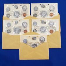 5 1966 Canada 80% Silver Proof Like Sets Original Envelopes L9457