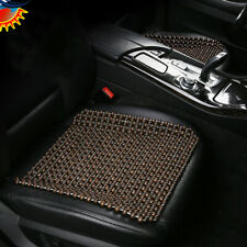 Wood Beaded Seat Cushion Cover Fit For Car Office Home Chair Car Seat Cover Cool