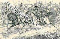 Reinheim - Gefecht an der Reinheimer Brücke  nach einer historischen Darstellung