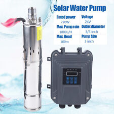 270W 3'' Solar Water Pump Submersible Deep Well Pump W/Mttp controller 2100L/H