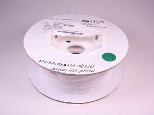 44791KT0343U9 Zeus Tubing Sleeve AWG 20 Wall: TW White PTFE TWT20WH 500' NOS