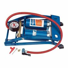 Draper Double Cylinder Foot Pump with Pressure Gauge - 4435