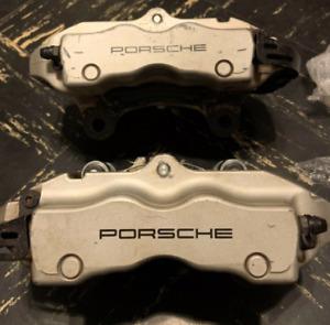 Genuine Porsche Cayenne S 4.5L REAR caliper L R brembo 2004-10 SILVER
