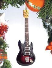 "Miniature 5"" Dark Electric Guitar Tree Ornament"