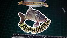 Carp Hunter Fishing Sticker, Full Colour Bait, Lure, Angling, Crafty Crew Coarse