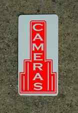 CAMERAS RED Metal Sign 40's 50s Retro Vintage Style Art Deco Decor Design