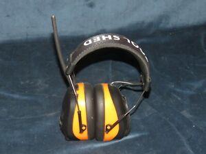 t15 Tool Shed Digital Earmuff Headset Bluetooth AM FM Stereo Radio MP3 Input