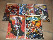 Atomik Angels lot: #1, #2, #3, #3A, #4  Crusade Comics  NM