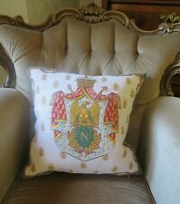 FRENCH EMPEROR NAPOLEON BONAPARTE COAT OF ARMS PILLOW CUSHION COVER ONLY