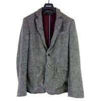 Dsquared2 D2 Herren Tweed Sakko Jacke Jacket Gr 48 Grau Wolle Warm NP 999 Neu