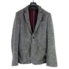 Dsquared2 D2 Men's Tweed Jacket Jacket Size 48 Grey Wool Warm Np 999 New