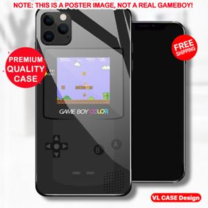 Gameboy Retro Mario Game Tempered Glass Phone Case Samsung Huawei iPhone