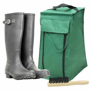 Premium Quality Waterproof Wellington Muddy Boot Travel Bag Storage & Free Brush