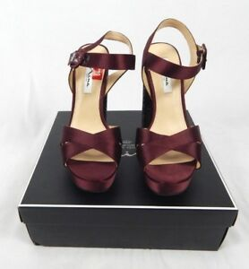 Women's Nina Dark Wine Glitter Savita Evening Platform Sandals, Size 10 M
