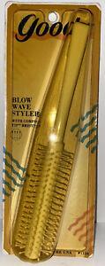 1989 NOS VINTAGE Goody #7110 white Hair Brush Blow Wave Styler Full Size 1980's