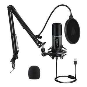 Maono AU-PM421 192KHZ/24BIT Professional Podcast Microphone Desk Mount Arm