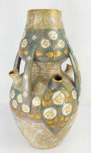 Large Antique Paul Dachsel Secessionist Arts & Crafts Turn Teplitz Amphora Vase