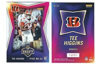 2020 Panini Instant NFL Draft Night RC Tee Higgins ROOKIE Card SP /511 Bengals