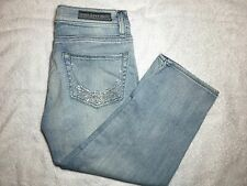 Womens ROCK & REPUBLIC Roskilde Rhinestone Sparkle Angel Wings Capris - Size 2