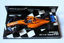 Minichamps 1:43 2018 Fernando Alonso McLaren MCL33 300th GP, Canadian L/E 650