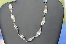Estate Rare Sterling Silver Leaf necklace