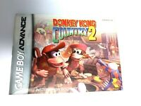 Donkey Kong Country 2 GameBoy Advance Instruction Booklet Book Manual Only