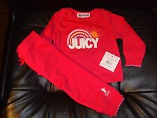 NEW JUICY COUTURE BABY GIRL 2PC NEWBORN PINK PANT PJ SET 6-9 M