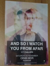 And So I Watch You From Afar + Gallops - Glasgow nov.2017 concert gig poster