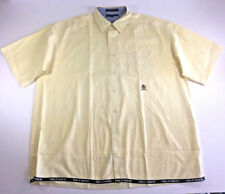 Tommy Hilfiger Men's XL Button Down Yellow Vintage Short Sleeve Spell Out Shirt